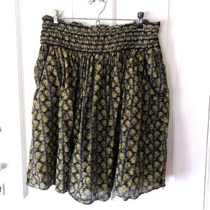 Sz 4 Lil for Anthropologie Cotton Butterfly Skirt